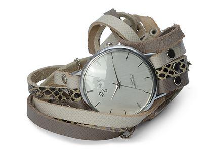 שעון עור מלופף שלוש רצועות